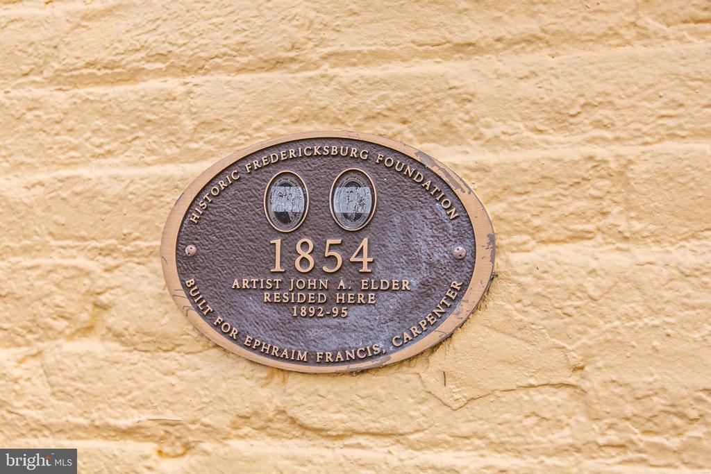 Built in 1854 - 1113 CAROLINE ST, FREDERICKSBURG