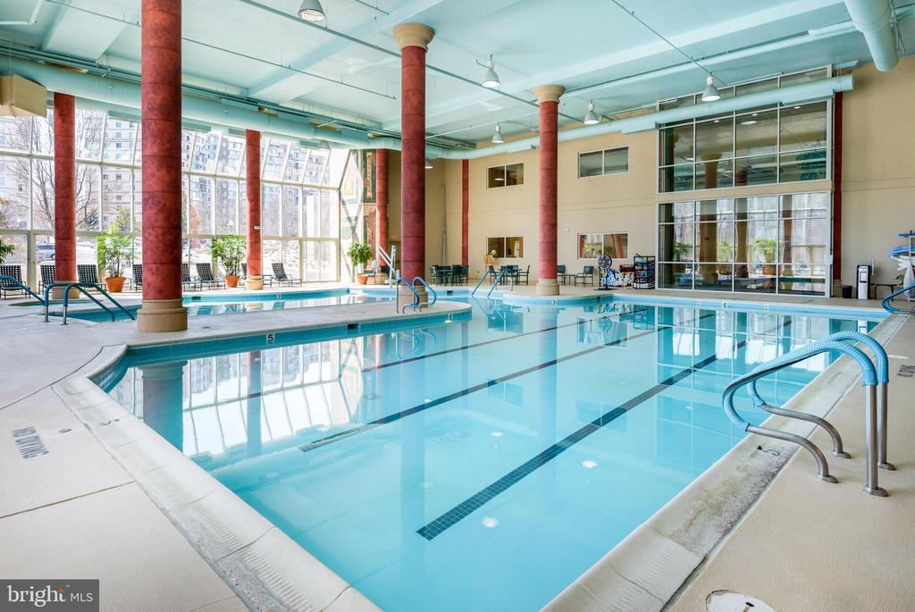 Indoor Pool in LW Clubhouse - 19355 CYPRESS RIDGE TER #405, LEESBURG