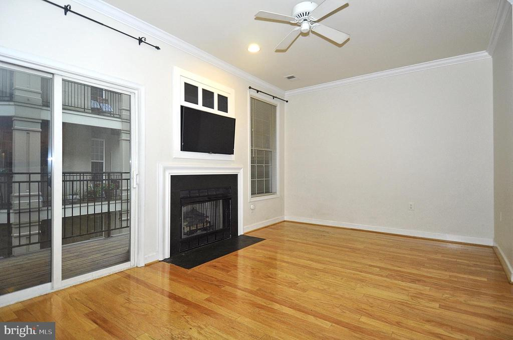 Gas fireplace and TV conveys! - 2310 14TH ST N #205, ARLINGTON