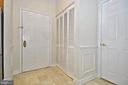 Large foyer with closet - 2310 14TH ST N #205, ARLINGTON