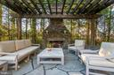 Pergola with Stone Fireplace - 6622 MALTA LN, MCLEAN