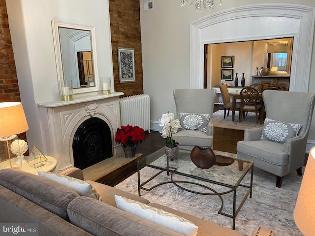 Living room looking toward dining room - 330 A ST SE, WASHINGTON
