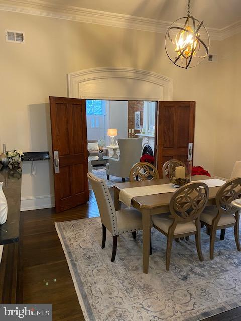 Dining room with double doors to Living room - 330 A ST SE, WASHINGTON
