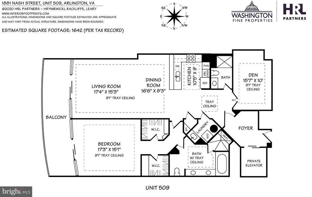 Floor Plan - 1881 N NASH ST #509, ARLINGTON