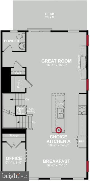 Main Level Floor Plan - 17700 LONGSPUR COVE LN, DUMFRIES