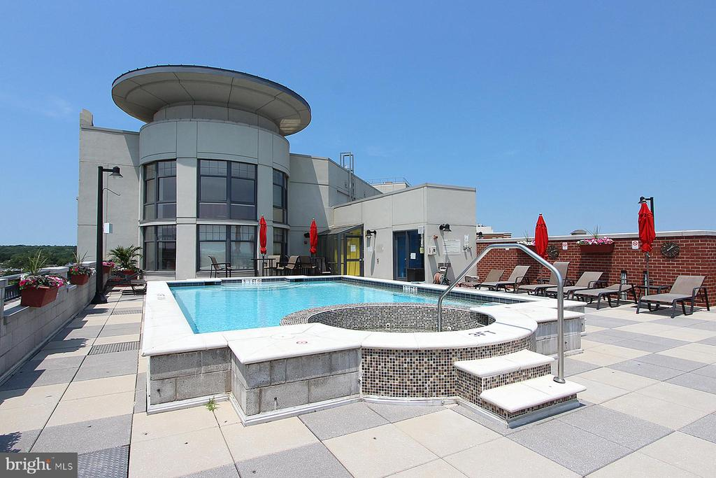 Roof top Pool with Hot Tub - 1021 N GARFIELD ST #828, ARLINGTON
