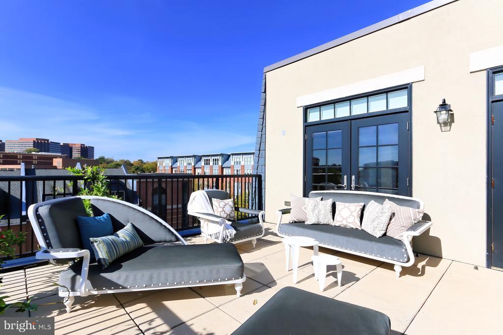 Private terrace - 1700 CLARENDON BLVD #158, ARLINGTON