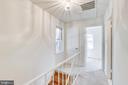 Upstairs Hall leading to 2nd Bedroom +linen closet - 1185 N VERNON ST, ARLINGTON