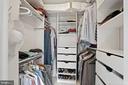 Owner's Walk-In Closet (1 of 2) - 5204 WILLET BRIDGE CT, BETHESDA