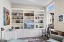 Living Area with Custom Built-Ins - 5204 WILLET BRIDGE CT, BETHESDA