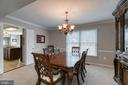 Formal dining room - 49 CHRISTOPHER WAY, STAFFORD