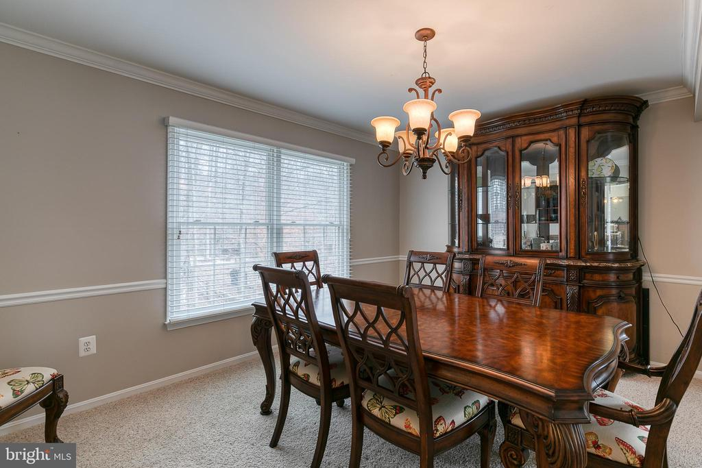 Formal dining room with chair rail - 49 CHRISTOPHER WAY, STAFFORD