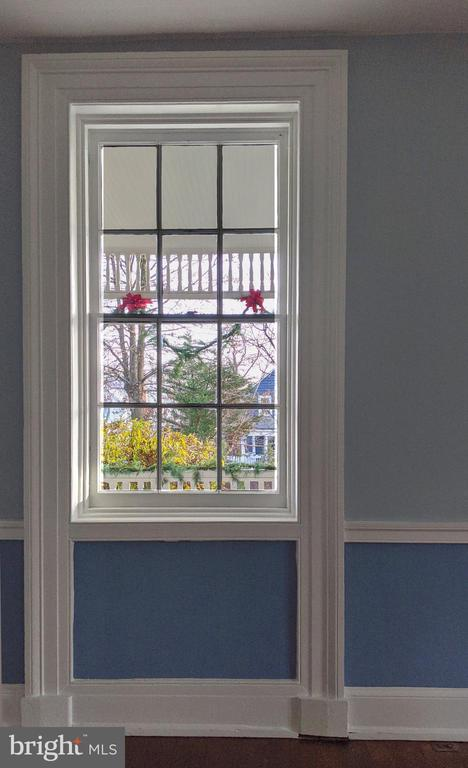 looking out LR window to holiday bows - 4343 39TH ST NW, WASHINGTON