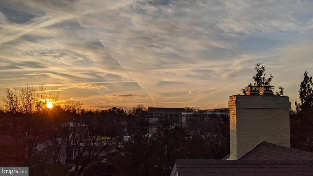 sunset  from tower - this house delivers beauty - 4343 39TH ST NW, WASHINGTON
