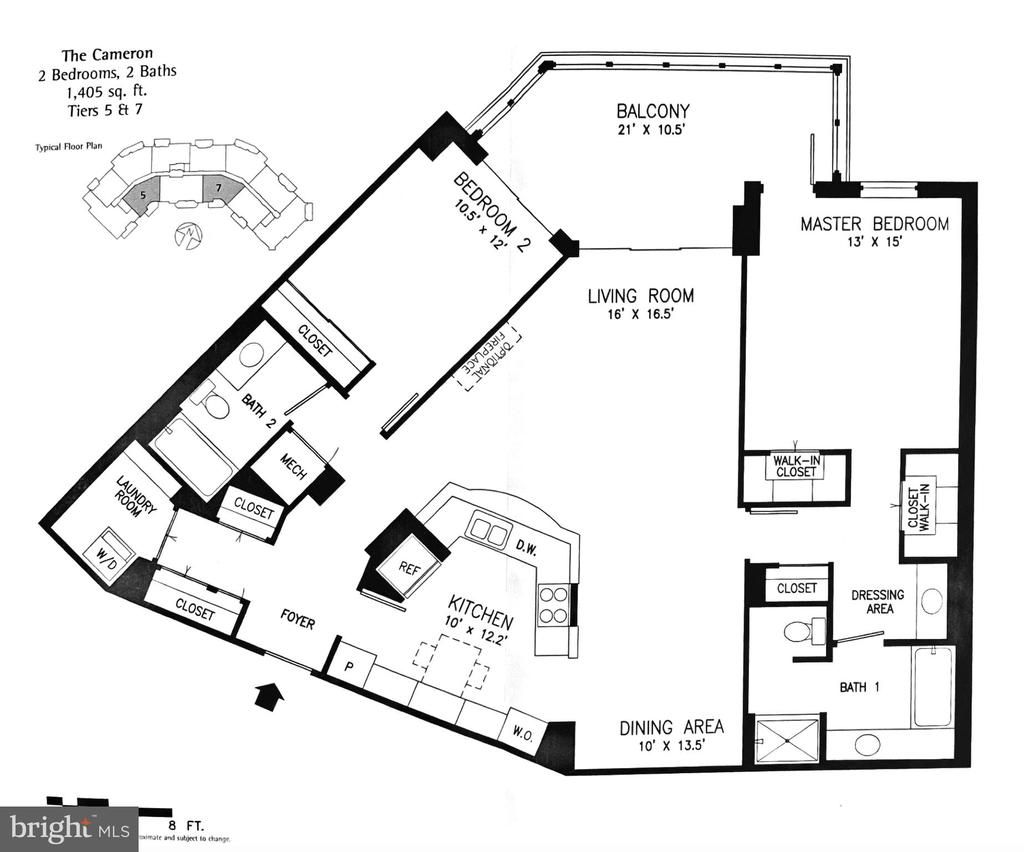 Cameron model floor plan unit 407 Magnolias North - 19350 MAGNOLIA GROVE SQ #407, LEESBURG
