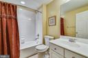 Full bath in lower level - 47642 MID SURREY SQ, STERLING