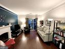 Living Room has gorgeous hardwoods - 1581 SPRING GATE DR #5404, MCLEAN