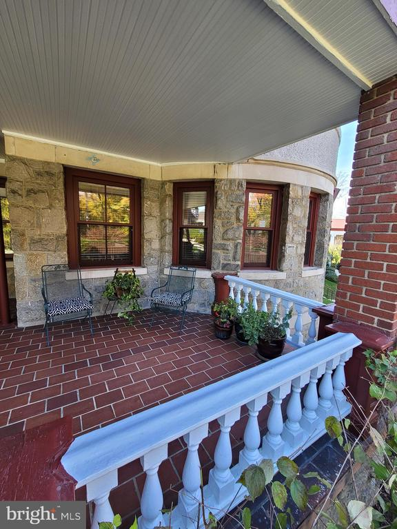 Spring time on the patio - 9610 DEWITT DR #PH101, SILVER SPRING