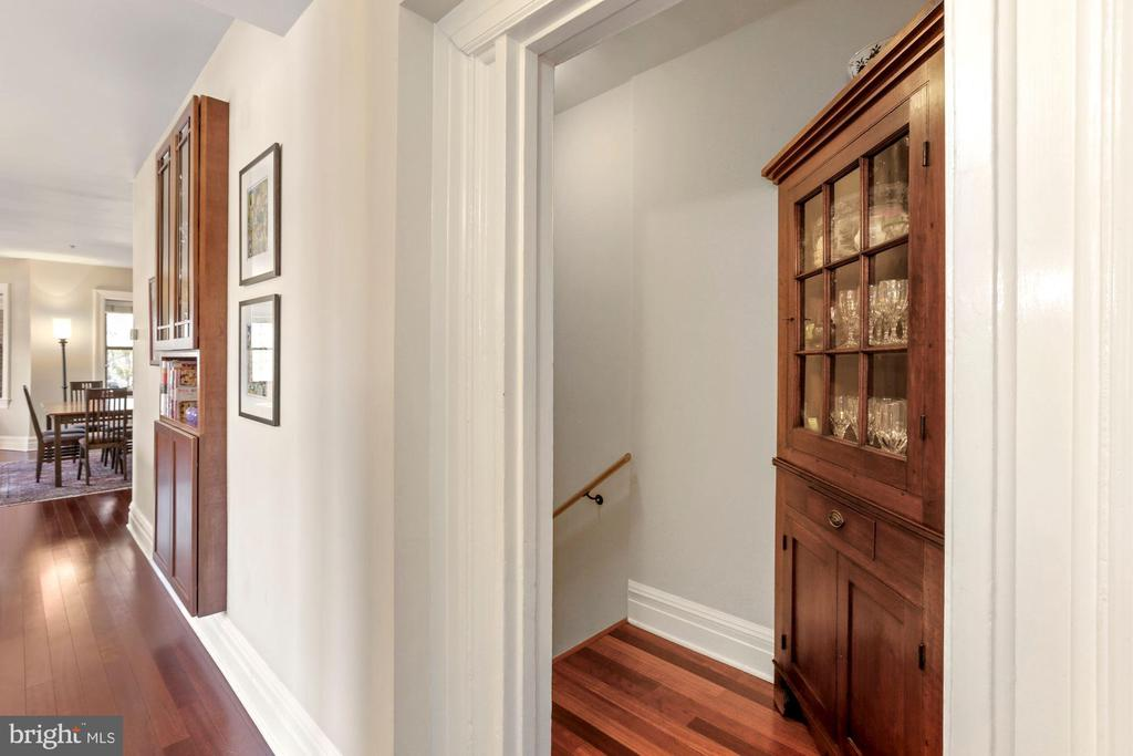 Foyer Entry to lower level - 9610 DEWITT DR #PH101, SILVER SPRING
