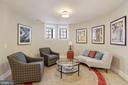 Turret Lower Level Living Room - 9610 DEWITT DR #PH101, SILVER SPRING