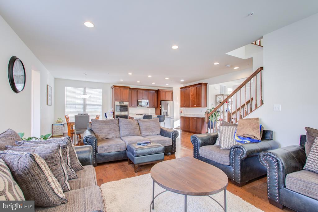 View from the family room to the kitchen. - 5502 HAWK RIDGE RD, FREDERICK