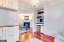 Study Built In Cabinets and Desk - 5876 LANGTON DR, ALEXANDRIA