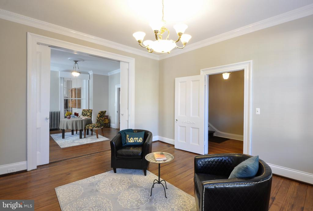 Huge Pocket Doors between Living room and dining - 611 CAROLINE ST, FREDERICKSBURG