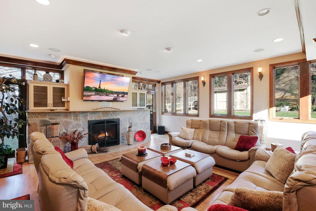 Family room addition with gas fireplace #2 - 5707 ROSSMORE DR, BETHESDA