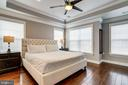 Owner's suite with tray ceiling - 4349 4TH ST N, ARLINGTON