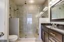 Huge walk in shower with frameless door - 4349 4TH ST N, ARLINGTON