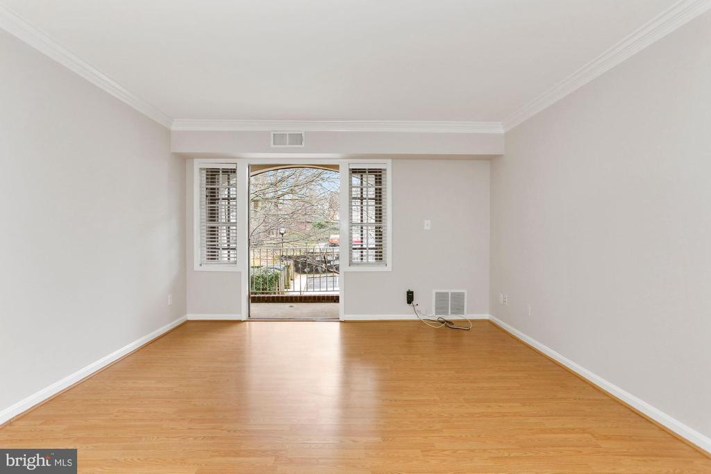 Living Room view - 8110-E COLONY POINT RD #218, SPRINGFIELD