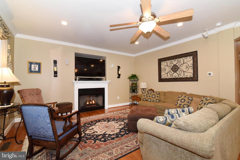 Cozy family room - 42070 SADDLEBROOK PL, LEESBURG
