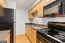 Remodeled Kitchen w/Microwave - 8110-E COLONY POINT RD #218, SPRINGFIELD