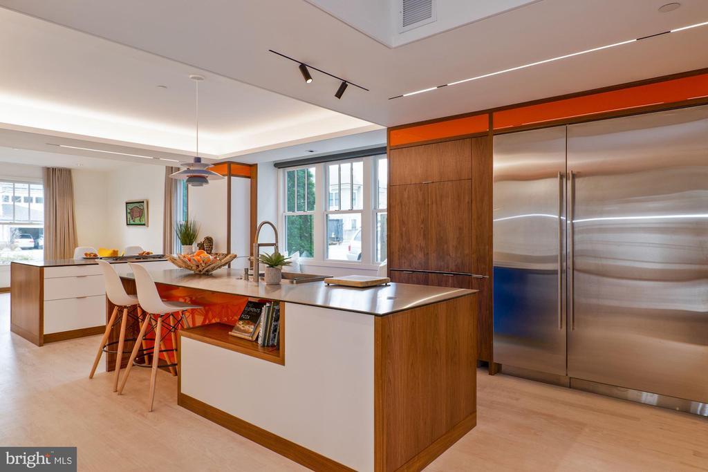Upgraded gourmet chef's kitchen - 491 N WAKEFIELD ST, ARLINGTON