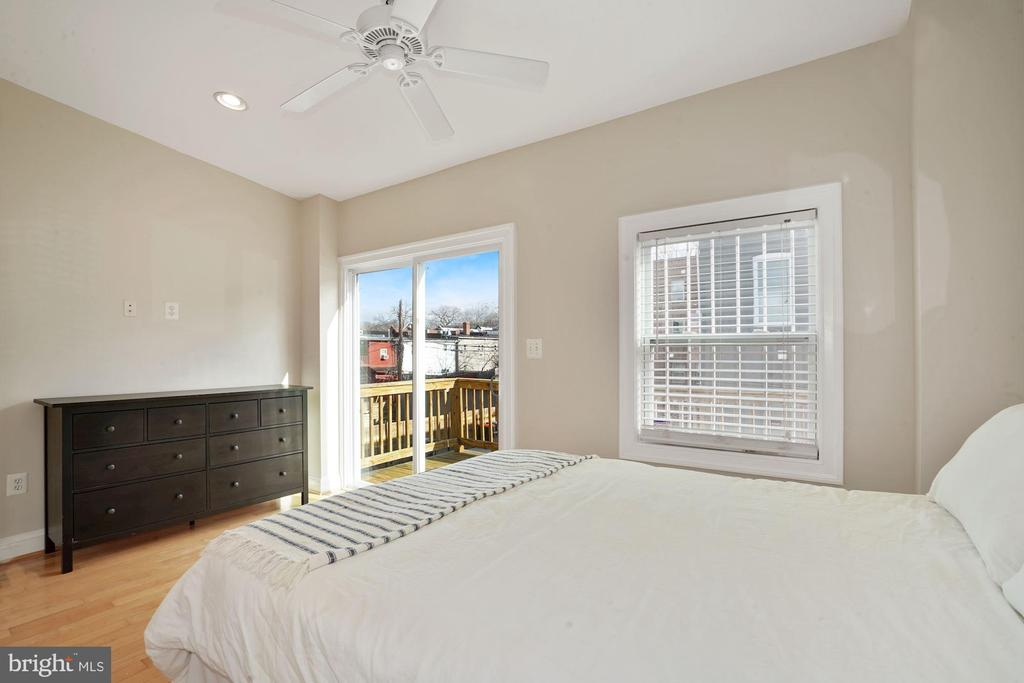Bedroom #1 - Leads Out to Spacious Private Deck! - 1623 MONTELLO AVE NE, WASHINGTON