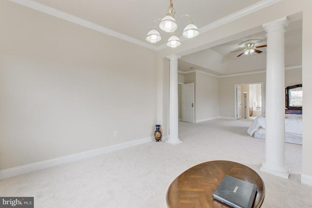Alt view of sitting room in master bedroom - 41205 CANONGATE DR, LEESBURG