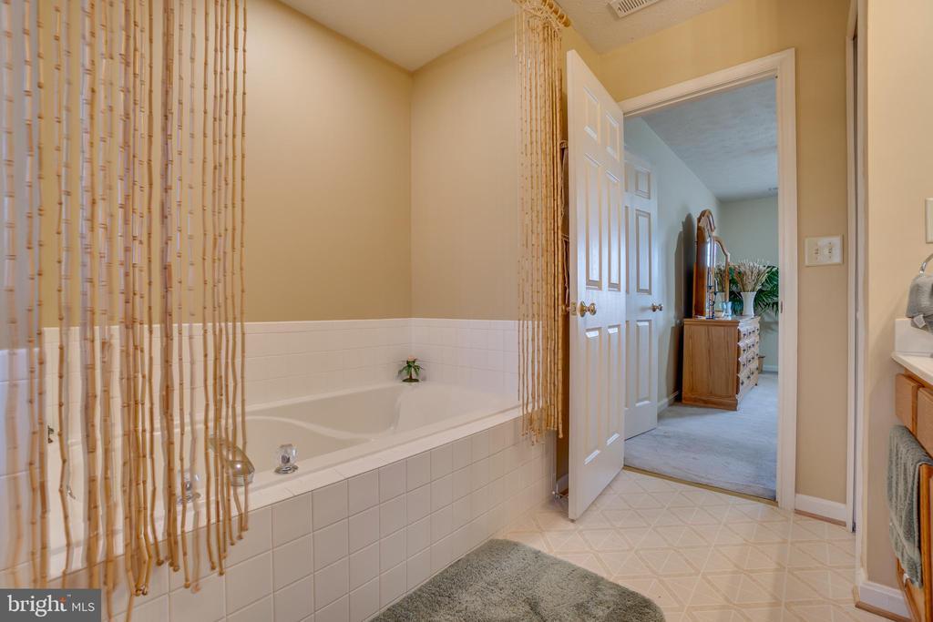 Upgraded master bath soaking tub - 6109 SUNNY MEADOWS DR, FREDERICKSBURG