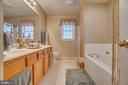 Upgraded master bath - 6109 SUNNY MEADOWS DR, FREDERICKSBURG