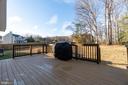 Large rear deck overlooking large treed backyard - 6109 SUNNY MEADOWS DR, FREDERICKSBURG