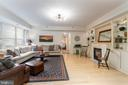 Custom Bookcases and Gas Fireplace and Chandilier - 1555 N COLONIAL TER #100, ARLINGTON