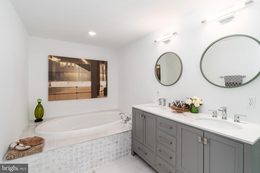 Separate Tub and Walk In Shower with Chrome Accent - 1555 N COLONIAL TER #100, ARLINGTON