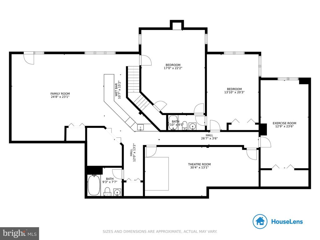 Floor plan- lower level - 41205 CANONGATE DR, LEESBURG