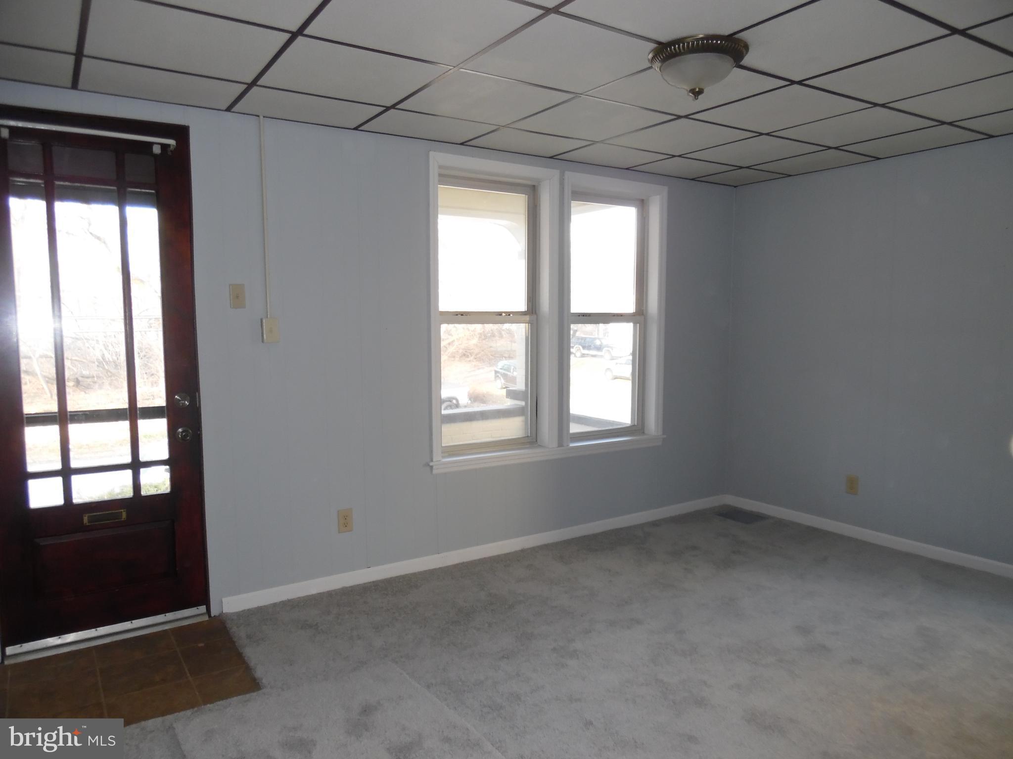 Living Room with beautiful front door