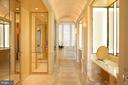 Primary Bath with Imported Namibia Marble - 3150 SOUTH ST NW #PH2C & 1M, WASHINGTON