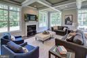 Gas Fireplace in Family Room(previous model) - 3283-A FOX MILL, OAKTON