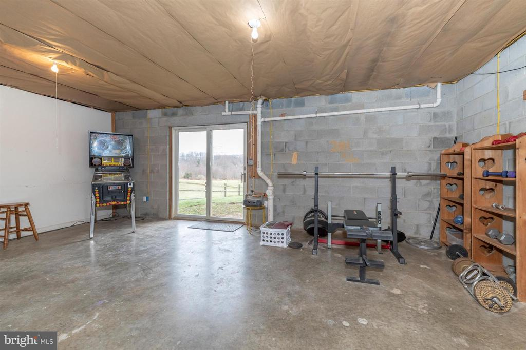 unfinished area in basement - 13001 PENN SHOP RD, MOUNT AIRY