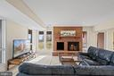 Lower level rec room with wood burning fireplace - 38853 MOUNT GILEAD RD, LEESBURG