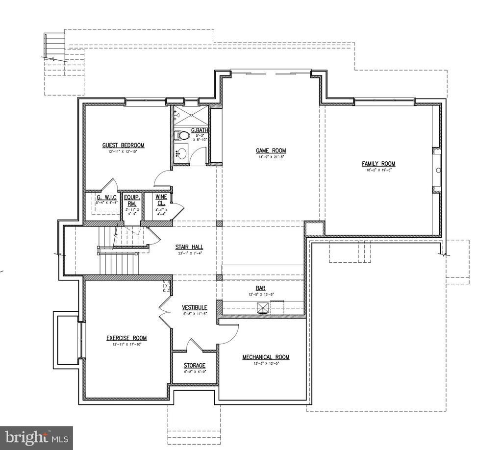 Basement Level Floor Plan - 7009 ELIZABETH DR, MCLEAN