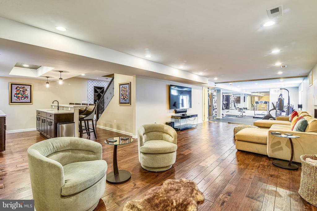 Fully Finished Lower Level Entertainment Zone - 37195 KOERNER LN, PURCELLVILLE
