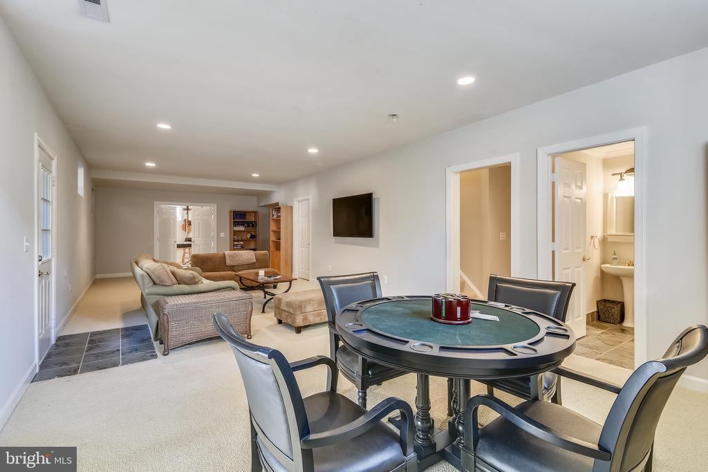 Lower Level spacious Living area - 20449 SWAN CREEK CT, POTOMAC FALLS